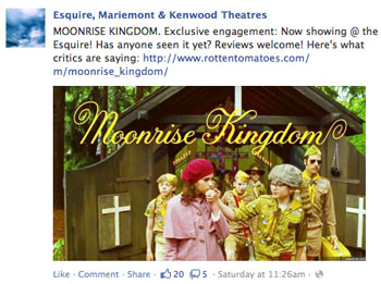 Facebook Marketing Fills the Movie Theatre