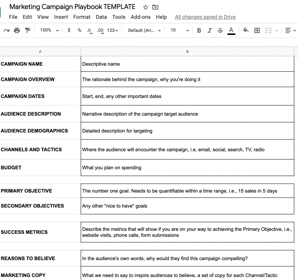 Invest a Little Time Planning Your Marketing Campaign Playbook