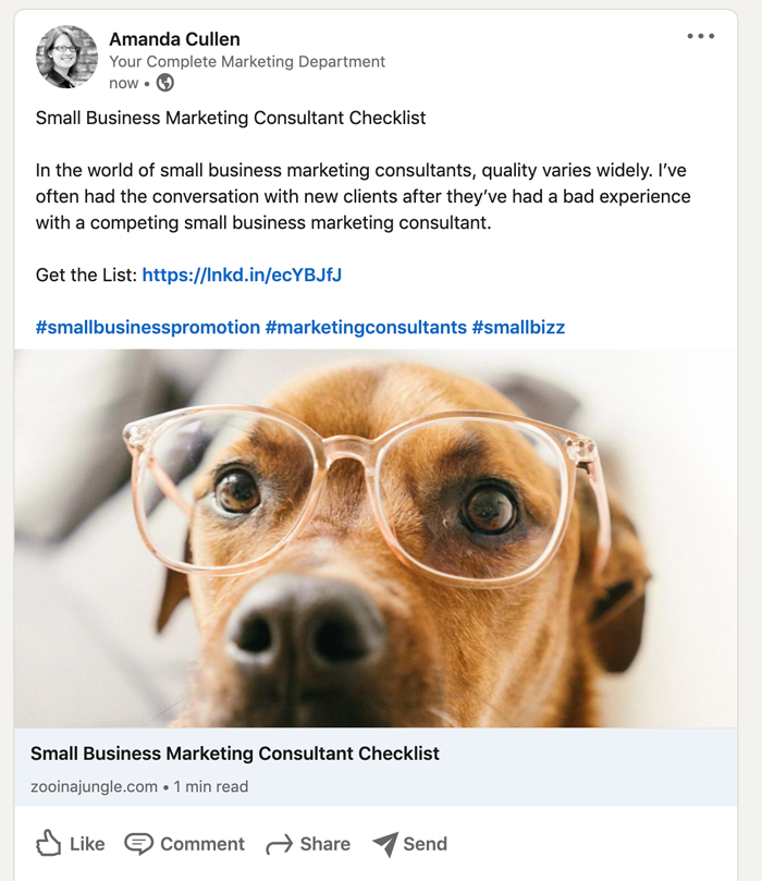 Tips for Posting a Link to LinkedIn